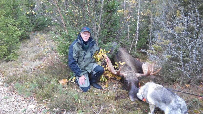 Arne Axelsson med den magnifika tjuren han fick skjuta i Kexås som ligger mellan Rydaholm och Moheda, i Kronobergs län. Foto: Privat