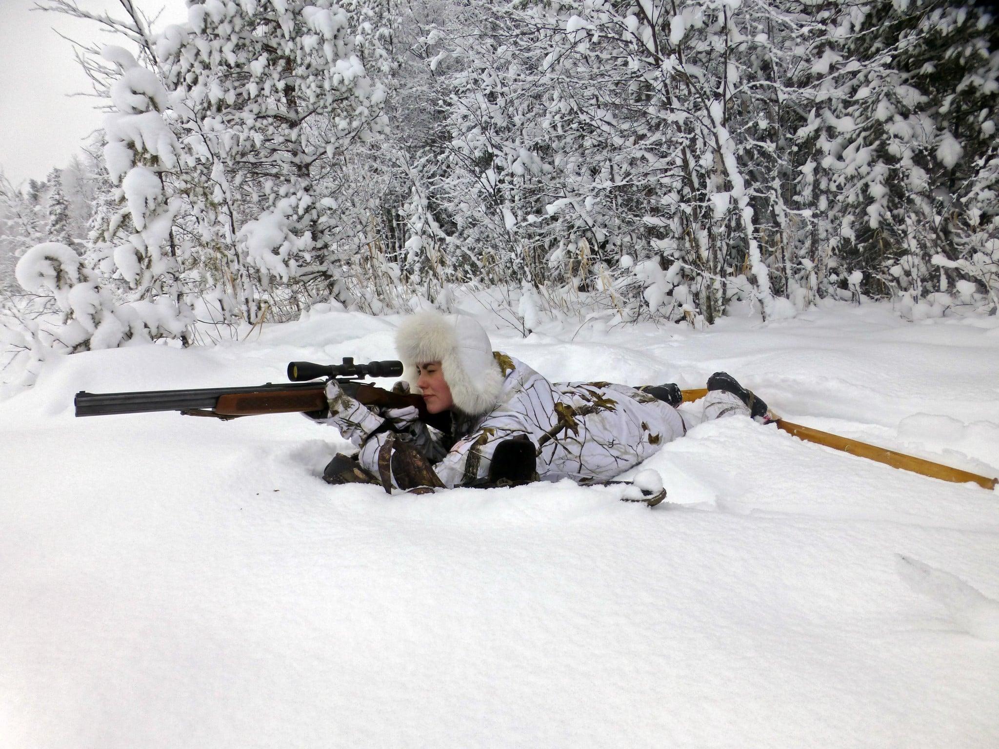 Kajsa Berglund på jakt.