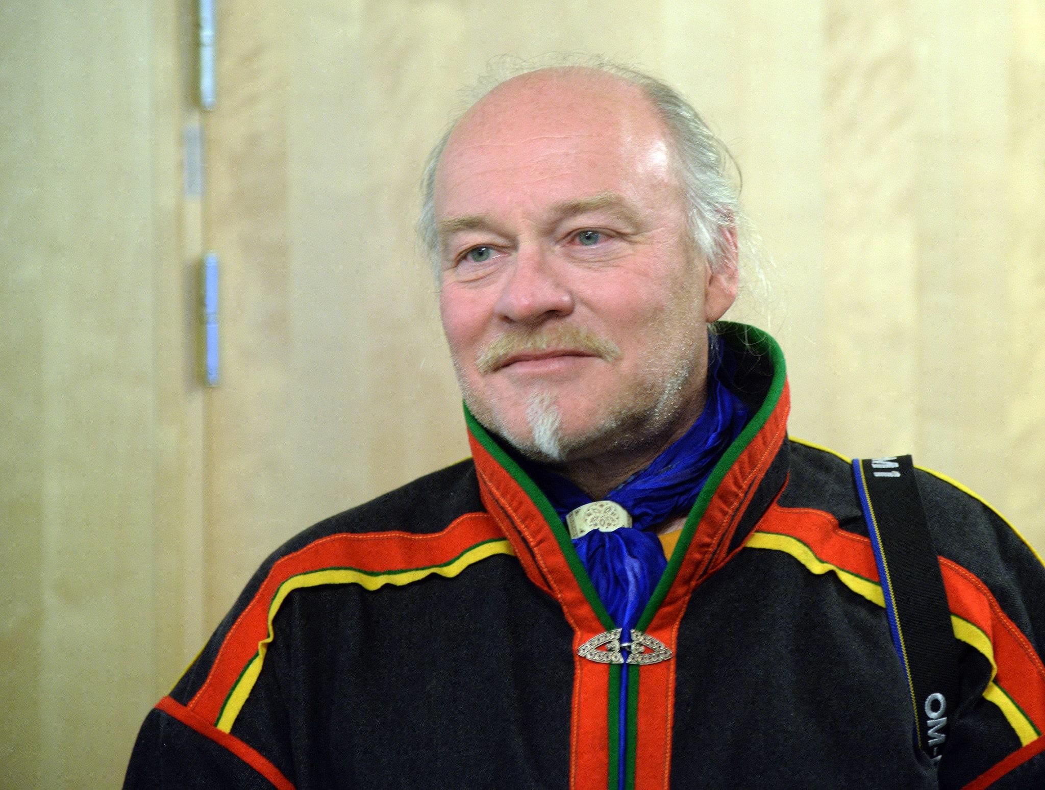Matti Berg, ordförande för Girjas sameby, är på plats i Umeå för att ta del av Hovrättens dom. En dom som förmodligen kommer bli överklagad till Högsta domstolen. Foto: Lars-Henrik Andersson