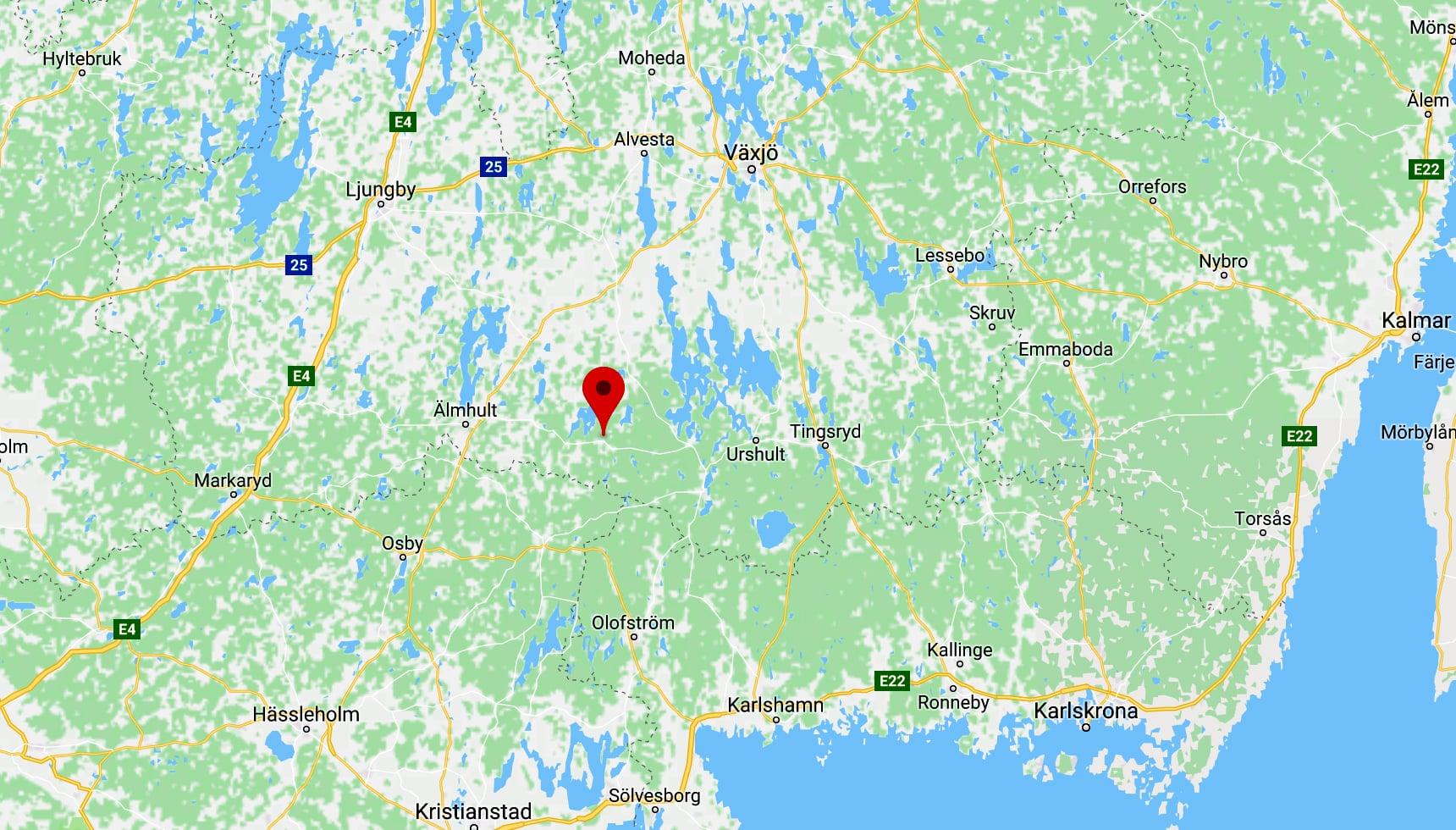Häradsbäck, Kronoberg.
