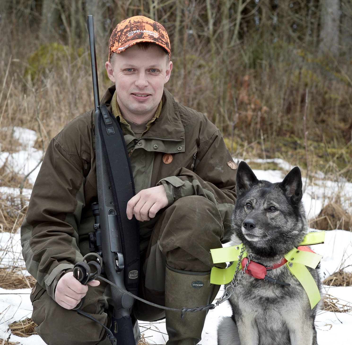 Björn Eek, jakthundansvarig i Svenska Kennelklubben fick sin jaktchampion Dalsjöns Minna skadad i ett hundslagsmål. Motpartens försäkringsbolag hävdar att han tog en medveten risk när han släppte hunden under älgjakt. Foto: privat