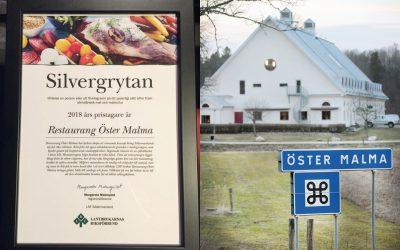 Restaurang Öster Malma, där viltköttet står i fokus, har tilldelats LRF Södermanlands pris Silvergrytan.