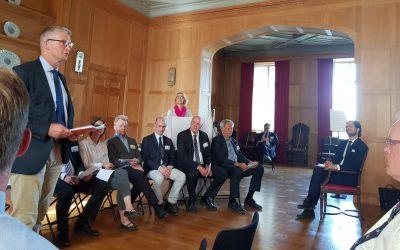 Svenska Jägareförbundets generalsekreterare Bo Sköld talade på jubileet och lovade bland annat att jägarna ska fungera som varningsklockor åt staten om förändringar i naturen. Foto: Fredrik Widemo
