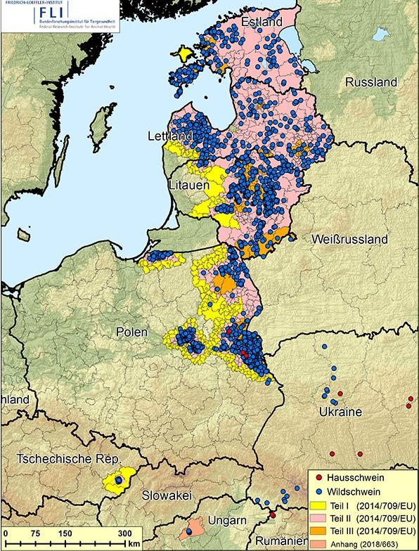 Lettland Karta Europa.Konferens Om Afrikansk Svinpest Svensk Jakt