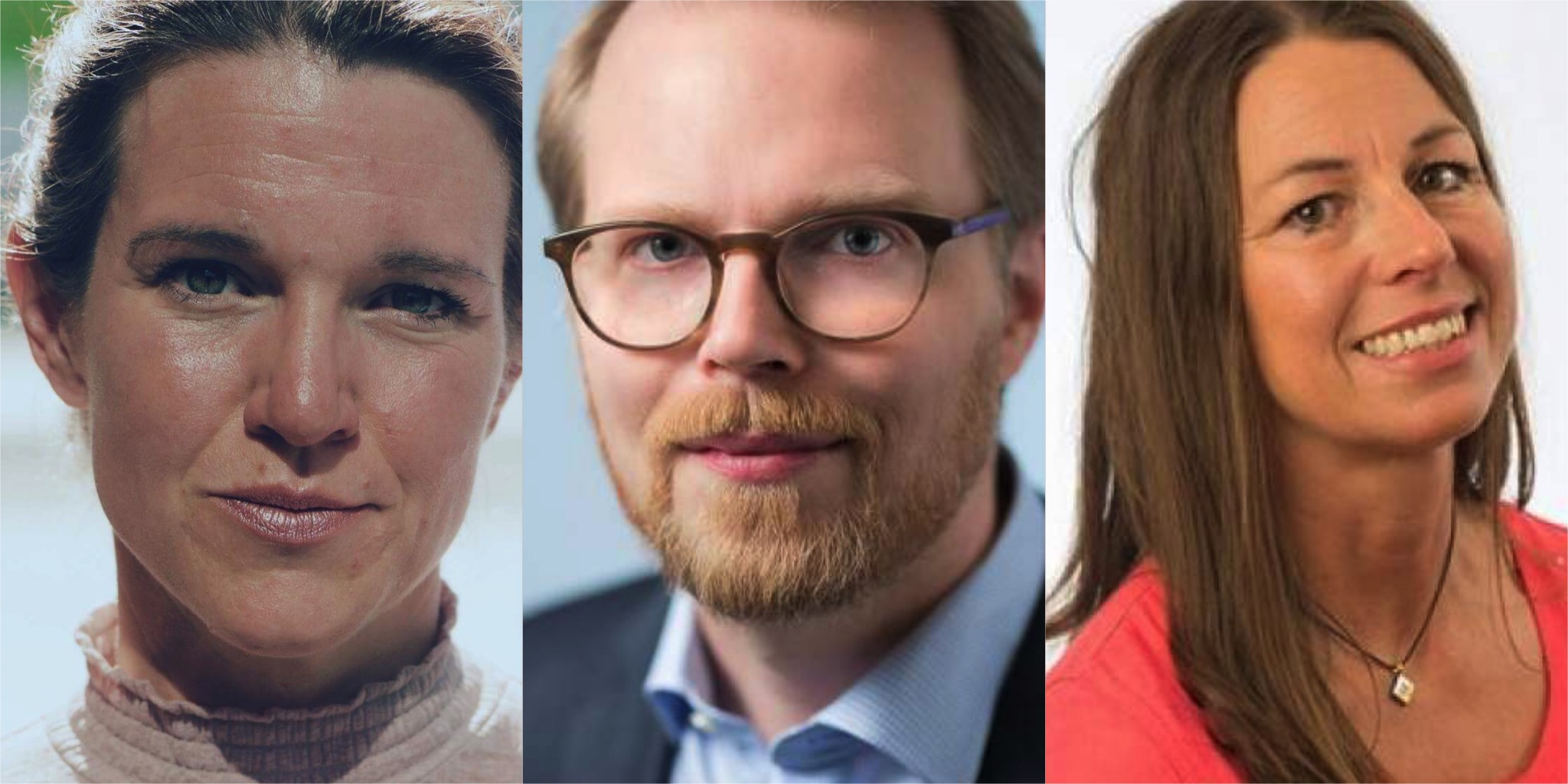Lina Nordquist, Niklas Frykman och Ulrica Westerlund (L).