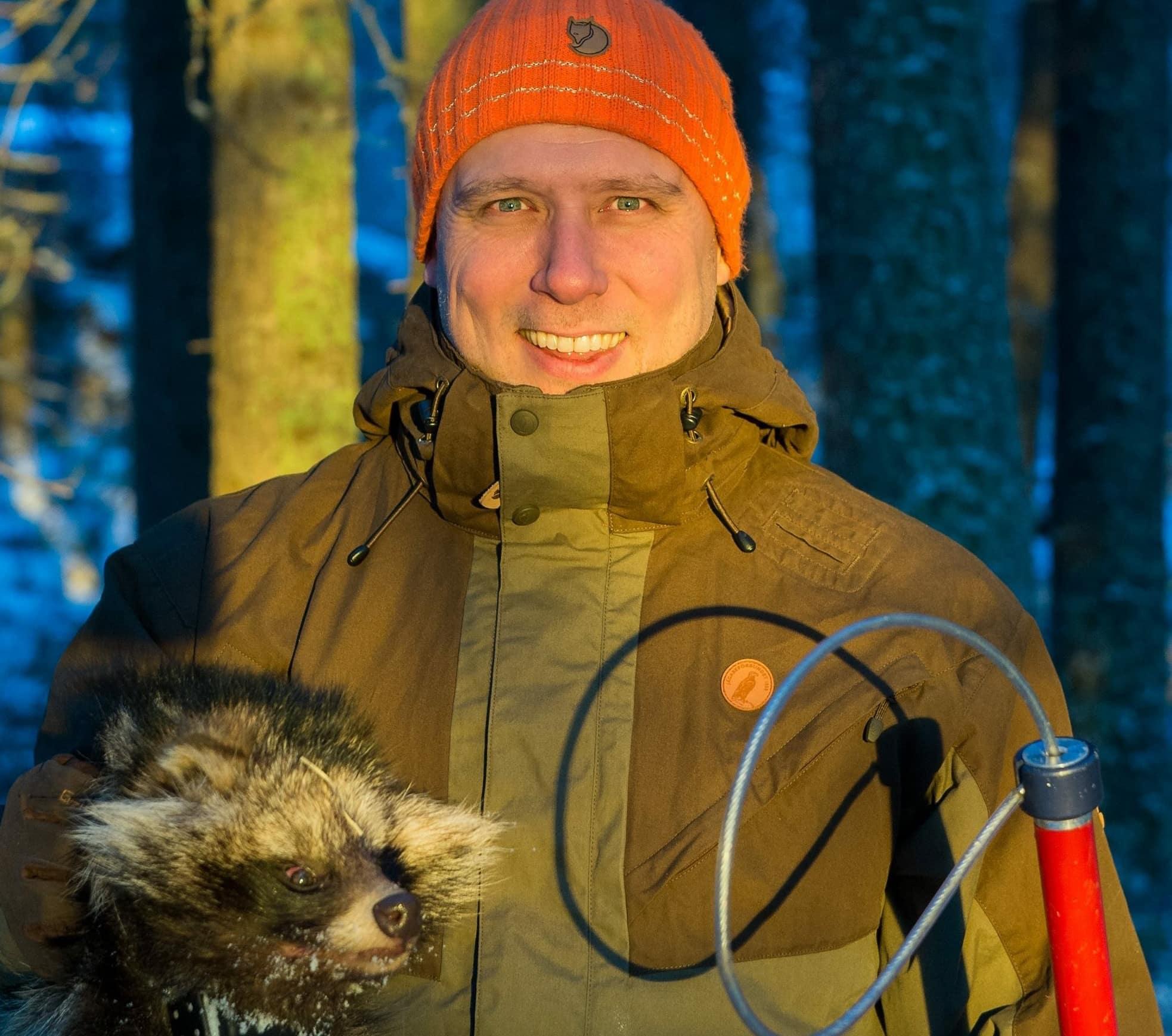 P-A Åhlén, projektledare i Mårdhundsprojektet.
