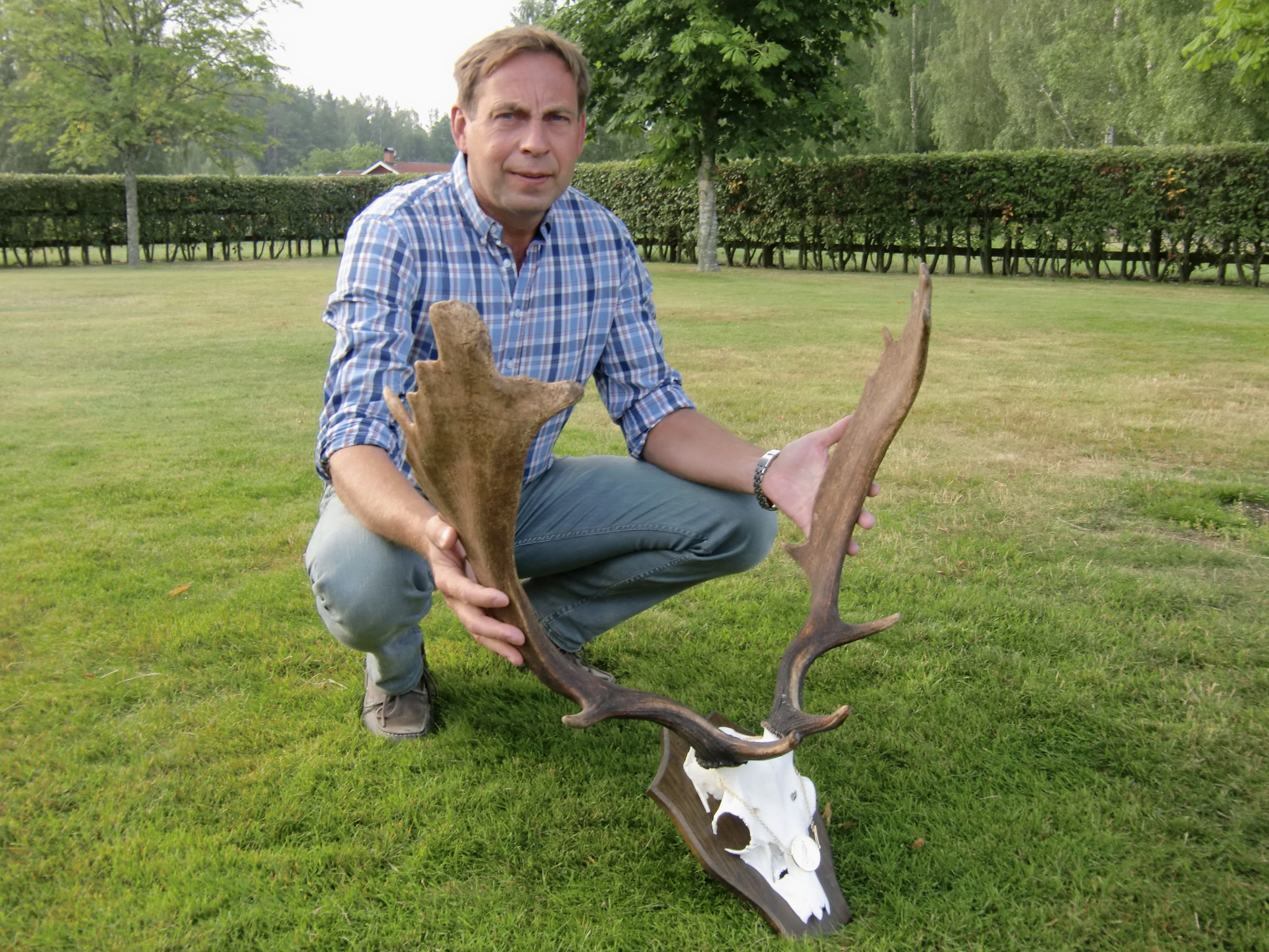 Niclas Malm med guldtrofén. Foto: Privat