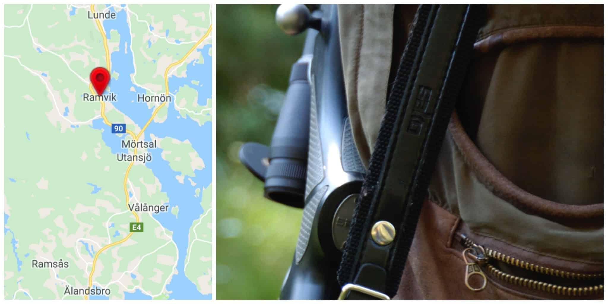 En jägare i Ramvik skadades svårt att efter han blivit vådaskjuten under jakt. Foto: Jan Henricson