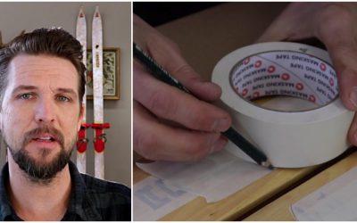 Christian Larsson visar hur du enkelt gör ditt eget snökamouflage.