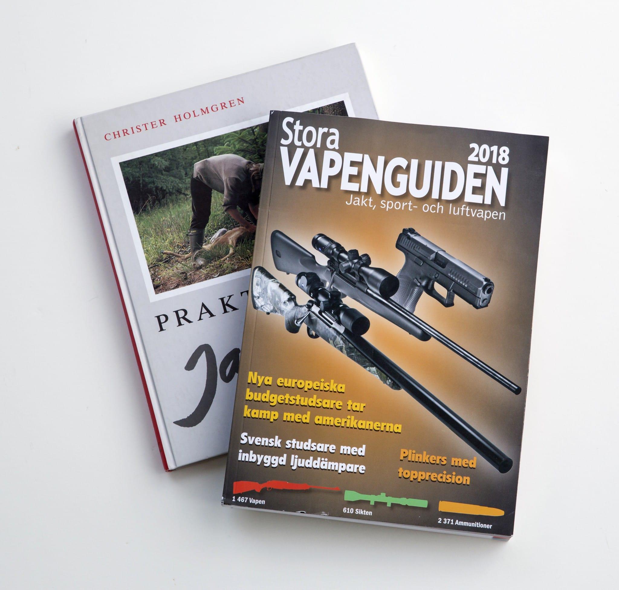 Praktiskt jaktskytte av Christer Holmgren är full av kunskap för den som funderar på att köpa begagnat vapen och Stora vapenguiden ger dig en bild av prisläget.