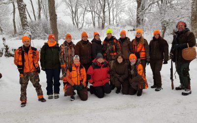 Deltagare i JAQT-jakten i Funbo. Foto: Jan-Eric Bergmark