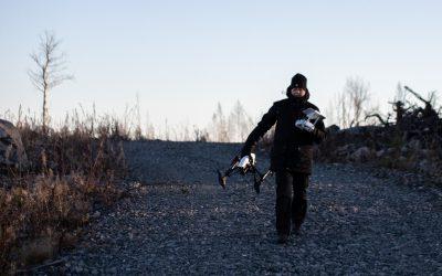 Drönare med värmekamera. Foto: Skogsstyrelsen