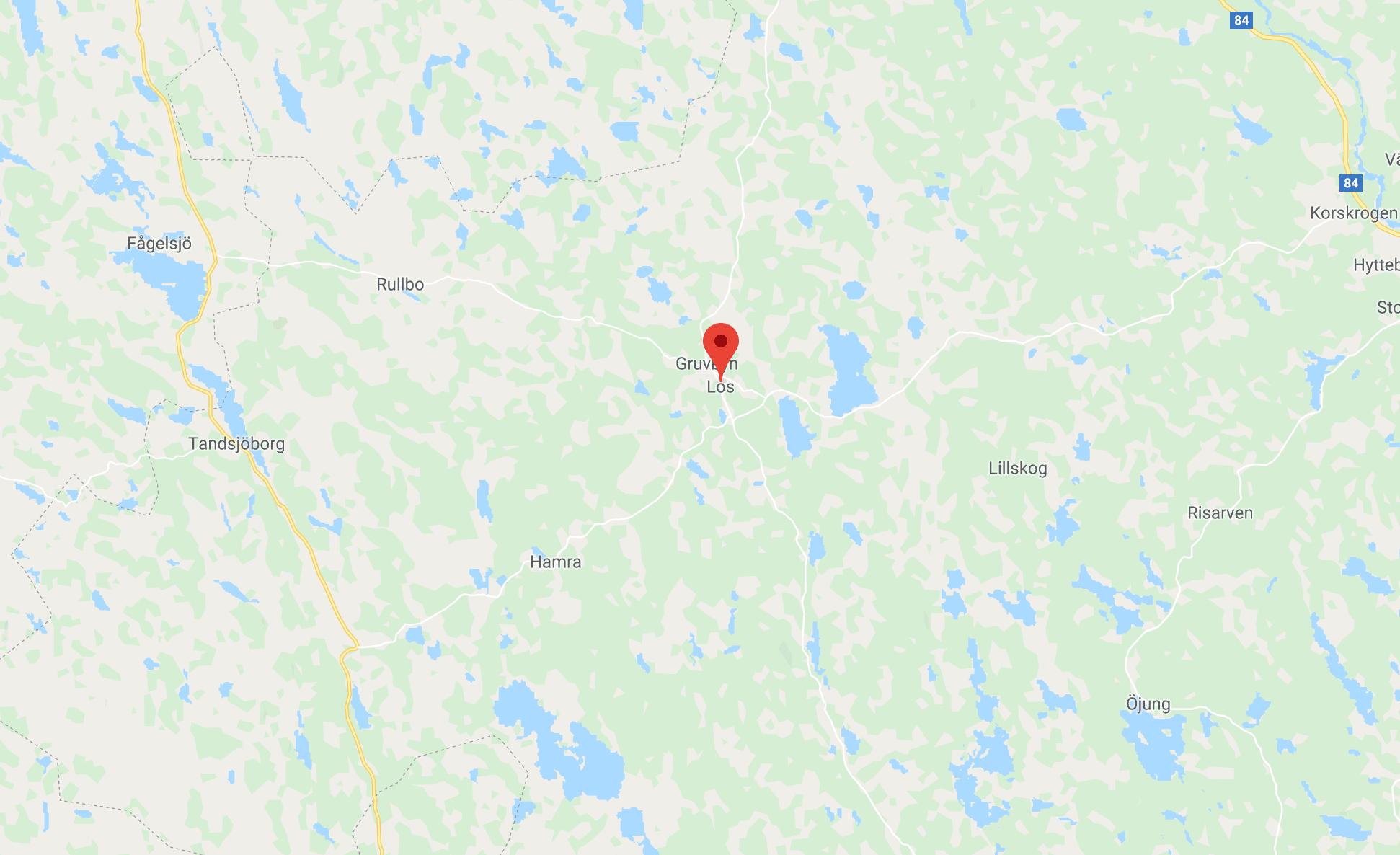 Byn Los ligger i den nordvästra delen av Hälsingland.
