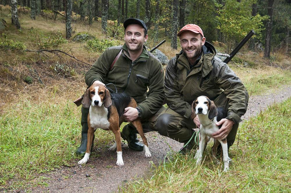 Tvillingarna Henes och Haris Cehajic tänker stövare, pratar stövare och jagar med sina stövare. För dem har valet av hund varit givet, ända sedan barndomen. Foto: Jan Henricson