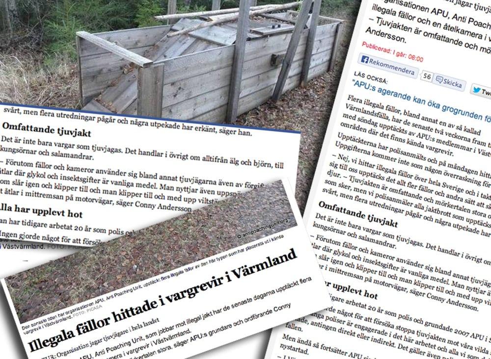 En artikel i Nya Wermlands-Tidningen som spreds över TT i riksmedia.