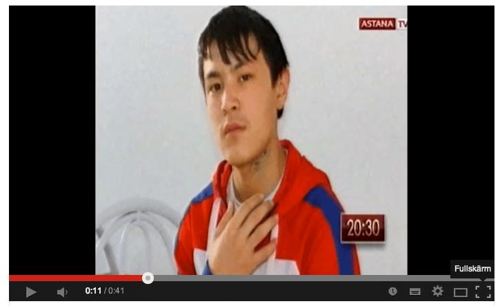 Den kazakiska TV-kanalen Astana TV rapporterade om fallet.
