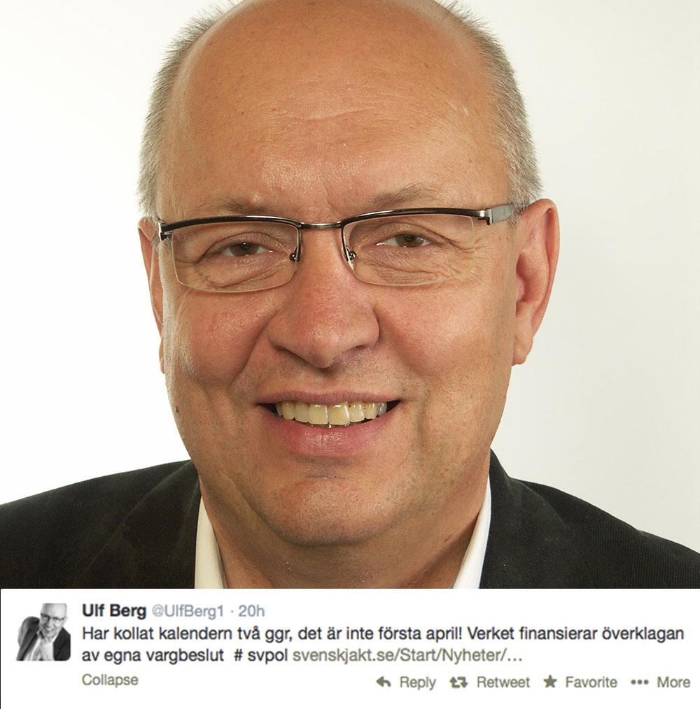 Riksdagsledamoten Ulf Berg (M) försäkrar sig om att Naturvårdsverkets bidrag inte är ett aprilskämt.