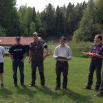 Vinnare i LM Jaktskytte kombination blev Marcus Hultin från Sävsjö med 203 poäng, tvåa blev Simon Andersson från Skillingaryd med 197 poäng och trea blev Emil Erixson från Nässjö med 194 poäng. Foto: Helén Weckfors