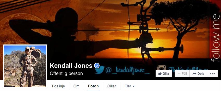 19-åriga Kendall Jones från Texas har väckt massiva protester på Facebook efter att hon lagt ut bilder på sig själv vid till synes döda afrikanska djur. Nu har Facebook tagit ner hennes bilder.