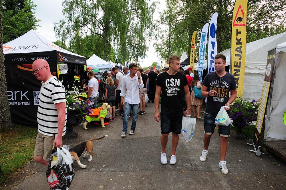Sunne Jaktmässa drog under helgen 11 000 besökare. Foto: Boo Westlund