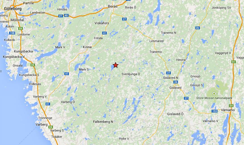 Den möjliga björnen har setts och filmats på gränsen mellan Marks och Svenljunga kommun.