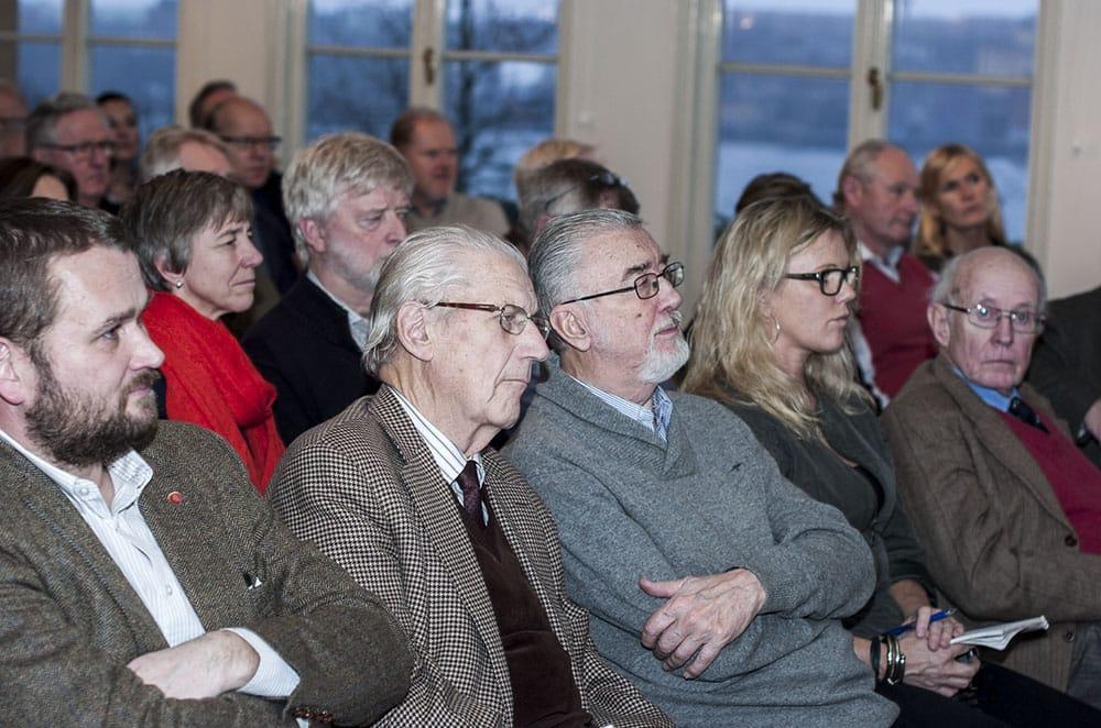 Åhörarna på Skansen fick lyssna till bland annat Björn Sprängare och Daniel Ligné från Jägareförbundet. Foto: Bertil Lundvik
