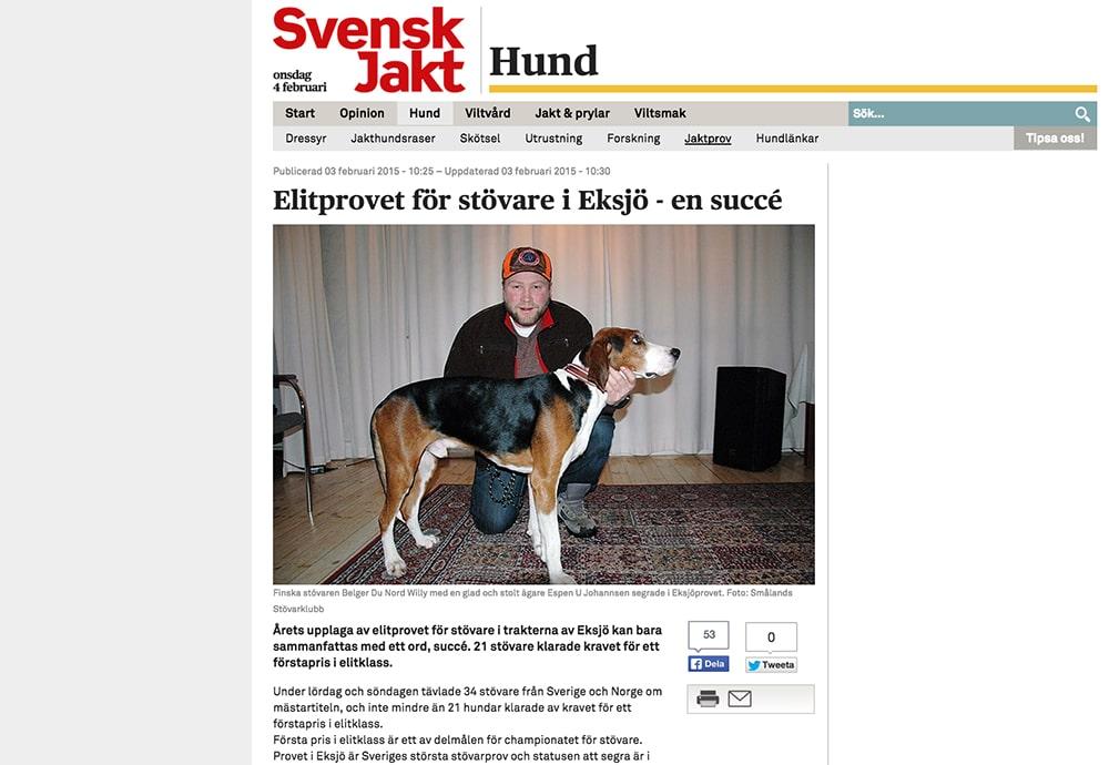 I går skrev vi om succén för stövarprovet i Eksjö. Men elitprovet har nu fått en besk eftersmak då en markägare blivit polisanmäld.
