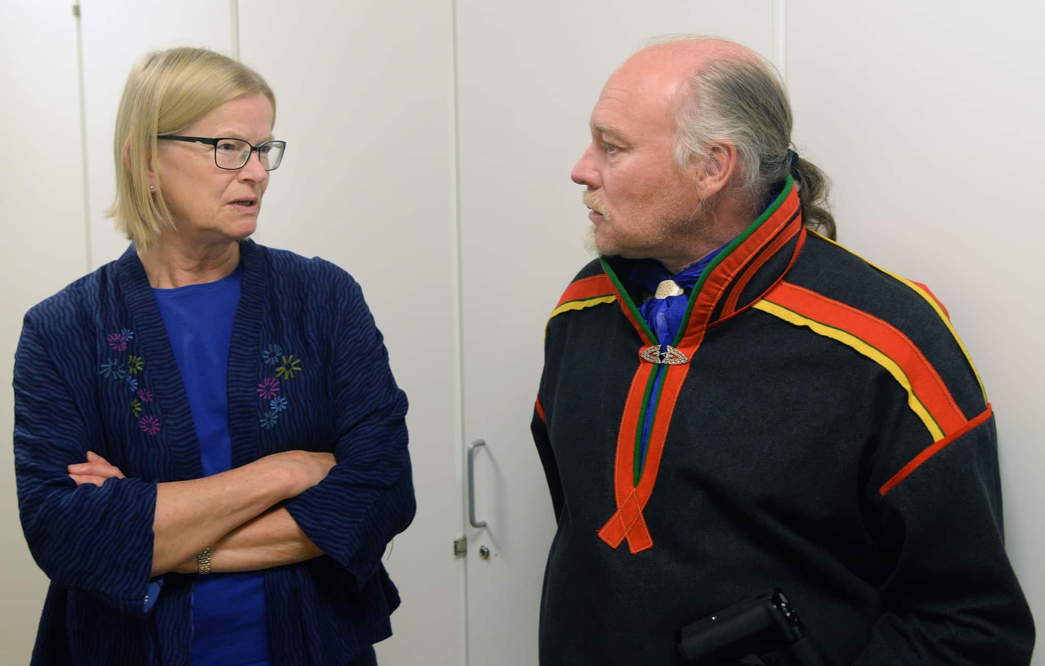 Staten företräds av justitiekansler Anna Skarhed i Girjasmålet. Mats Berg, är ordförande i Girjas sameby som i andra hand yrkar på en delad rätt till jakten och fisket inom samebyns område.Foto: Lars-Henrik Andersson
