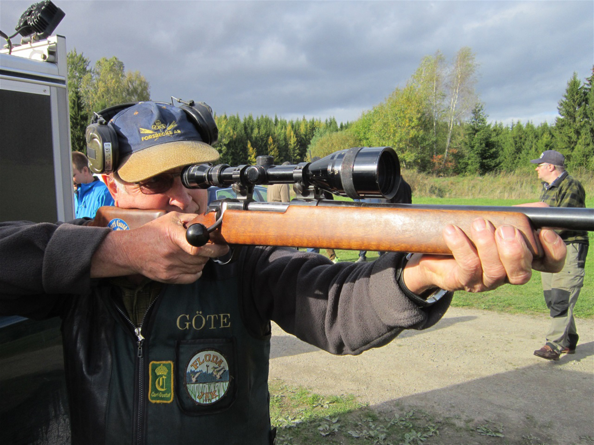 Göte Jansson från Berga jaktlag har deltagit i byalagsskjutningen sedan den startade 1966. Foto: Leif Nilsson