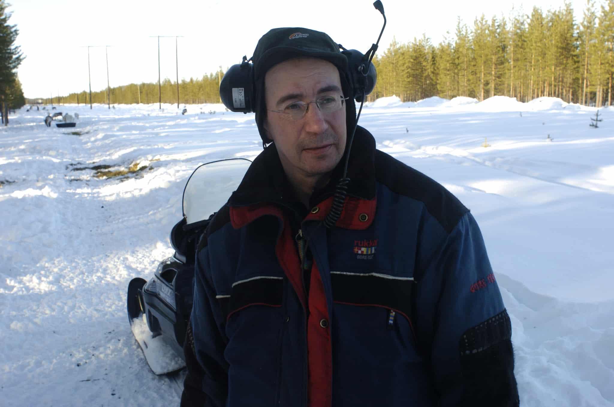 Jonas Jonsson i Maskaure sameby ser den ökande järvstammen som ett stort problem för renskötseln. Foto: Bernt Karlsson