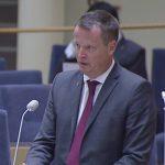 Inrikesminister Anders Ygeman från fredagens interpellationsdebatt. Foto: svt.se