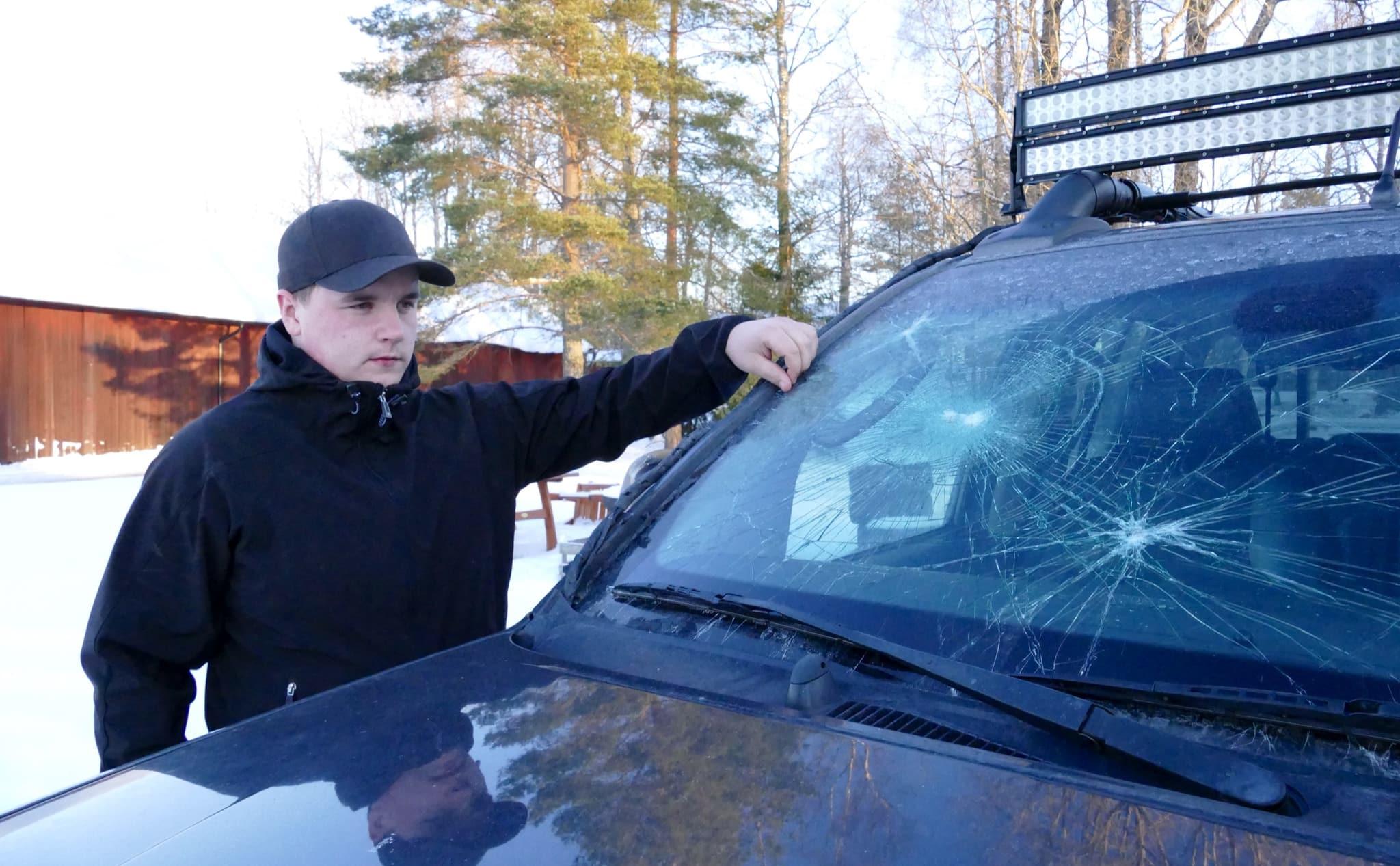 Mattias Heed handlade helt enligt regelboken när han avlivade den stora hanvargen. Men han blev hotad, förföljd och fick sin bil demolerad. Foto: Boo Westlund