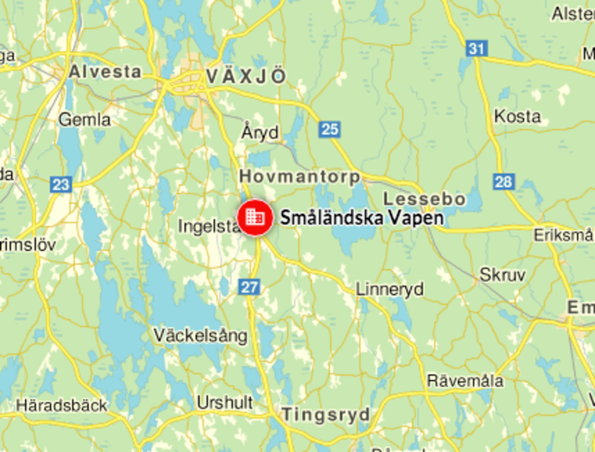 Småländska vapen i Ingelstad har funnits sedan 1925.