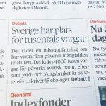 Rubriken artikelförfattaren syftar på. Faksimil från Dagens Nyheter.