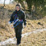 Ann-Marie Eklunds motto när hon tränar spår är motivation, belöning och variation. Foto: Malou Kjellsson