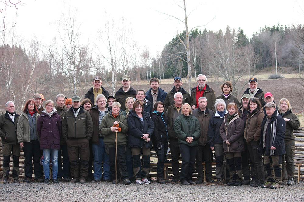 Nästan hela instruktörsgruppen är samlad. Foto: Katja Ståhlberg