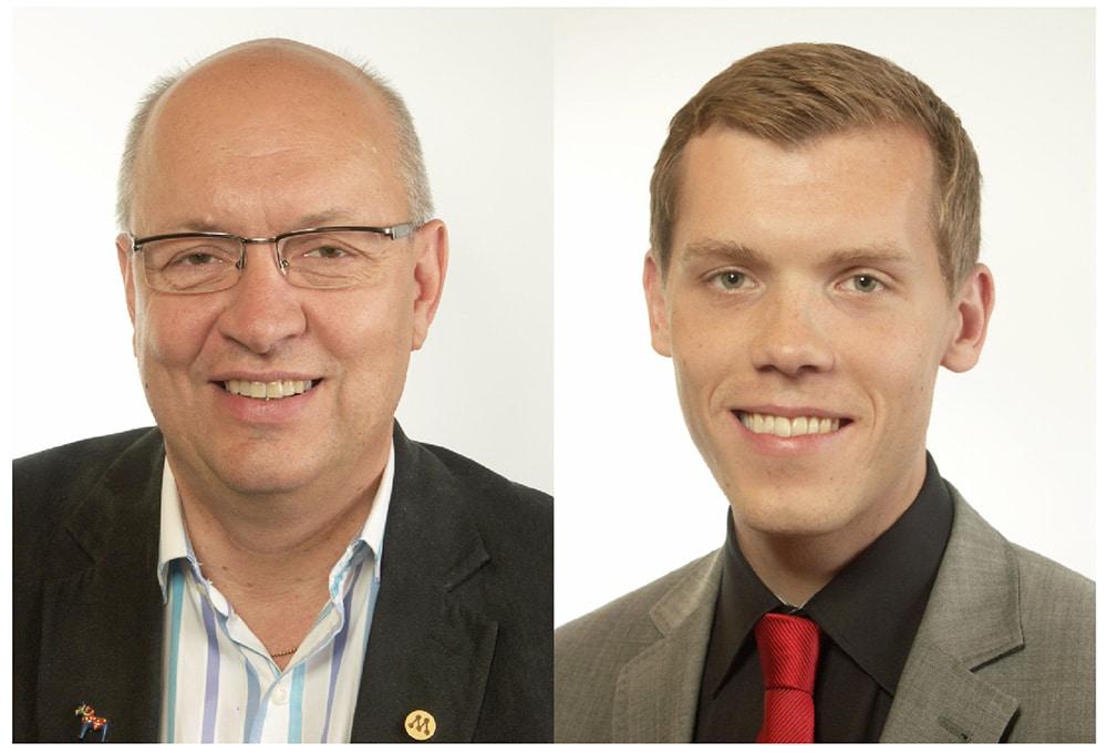 Ulf Berg (M) och Johan Hultberg (M). Foto: Riksdagen