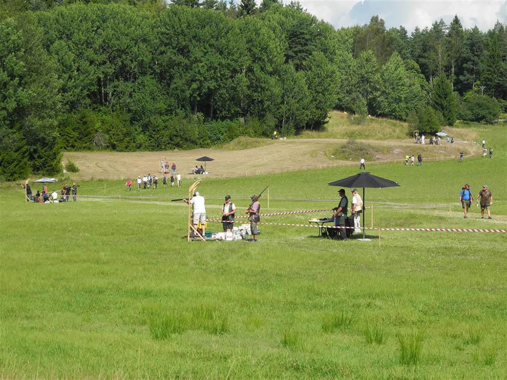 Full aktivitet vid några av stationerna under Jägarduvan. Foto: Carl von Essen
