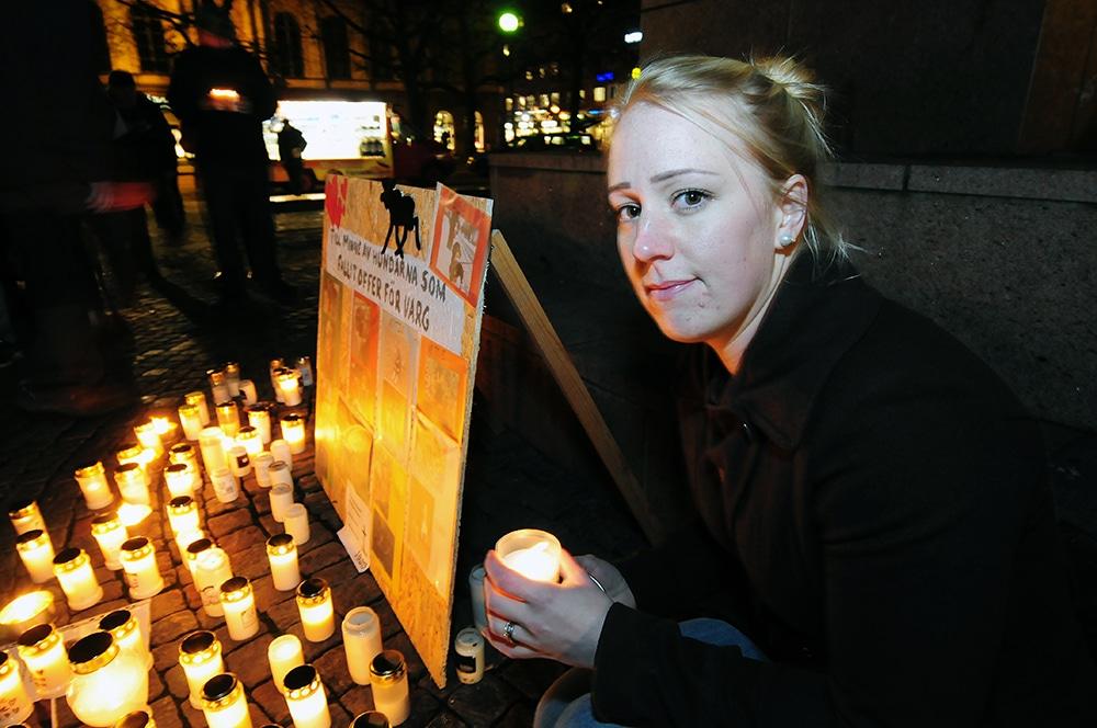 Sofie Rockmyr från Högboda tog initiativ till ljusmanifestationen i Karlstad som hölls i höstas. Nu uppmanar hon till deltagande i Landsbygdsupproret. Foto: Boo Westlund