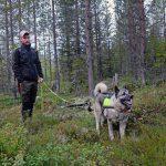 Älgjakten närmar sig och det är dags att se över utrustningen. Martin Ottossonh från Åsele jagar både älg och björn. Foto: Lars-Henrik Andersson