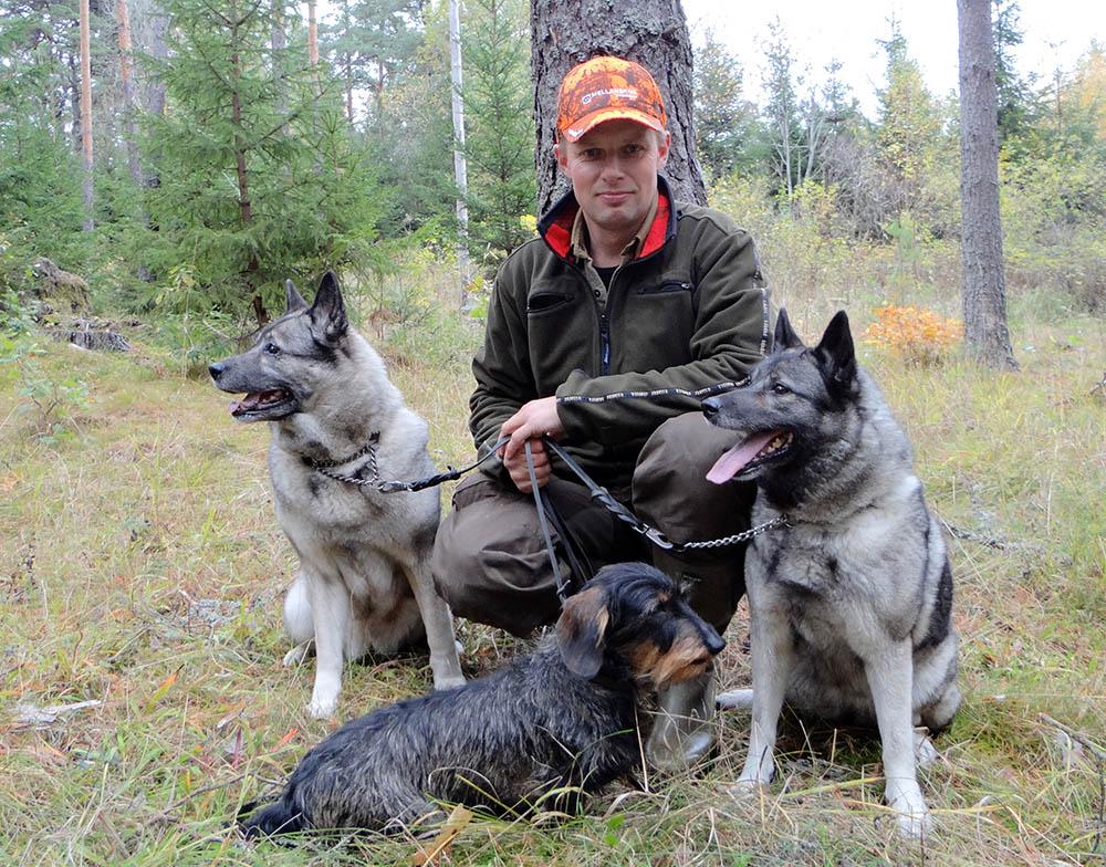 – Vi vill visa hur olika raser används och att nya jägare väljer renrasiga hundar, säger Björn Eek på SKK. Foto: Stephan Ackerstierna
