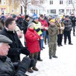 Bilden är hämtas från lördagens demonstration mot den stoppade vargjakten som hölls i Torsby. Foto: Boo Westlund