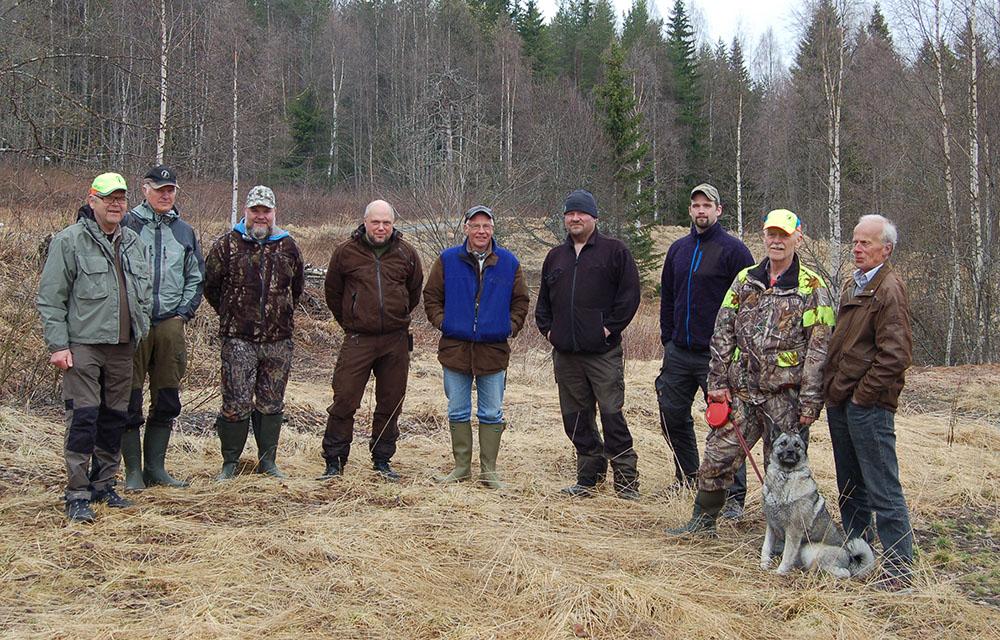 Samtliga deltagare vid spårprovet. Foto: Mikael Backman