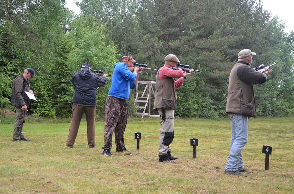 Jaktfältskjutningen i Sövdeborg drog inte mindre än 87 deltagare. Foto: Fredrik Jönsson
