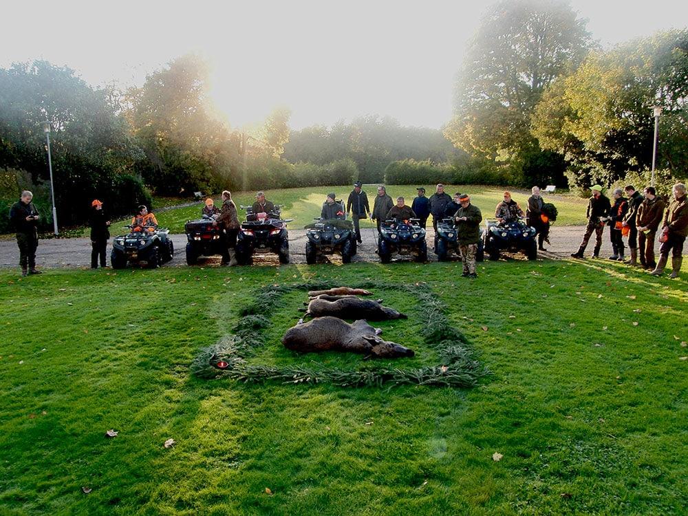 I samarbete med Jägareförbundet arrangerar elever på naturbruksgymnasiet Öknaskolan jakt för  funktionsnedsatta på Nynäs slotts marker i Nyköping. Foto: Öknaskolan