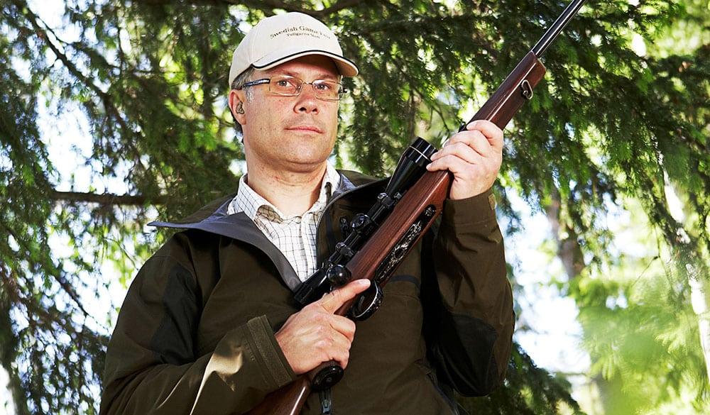 Torbjörn Larsson är ordförande i Jägareförbundets blygrupp.